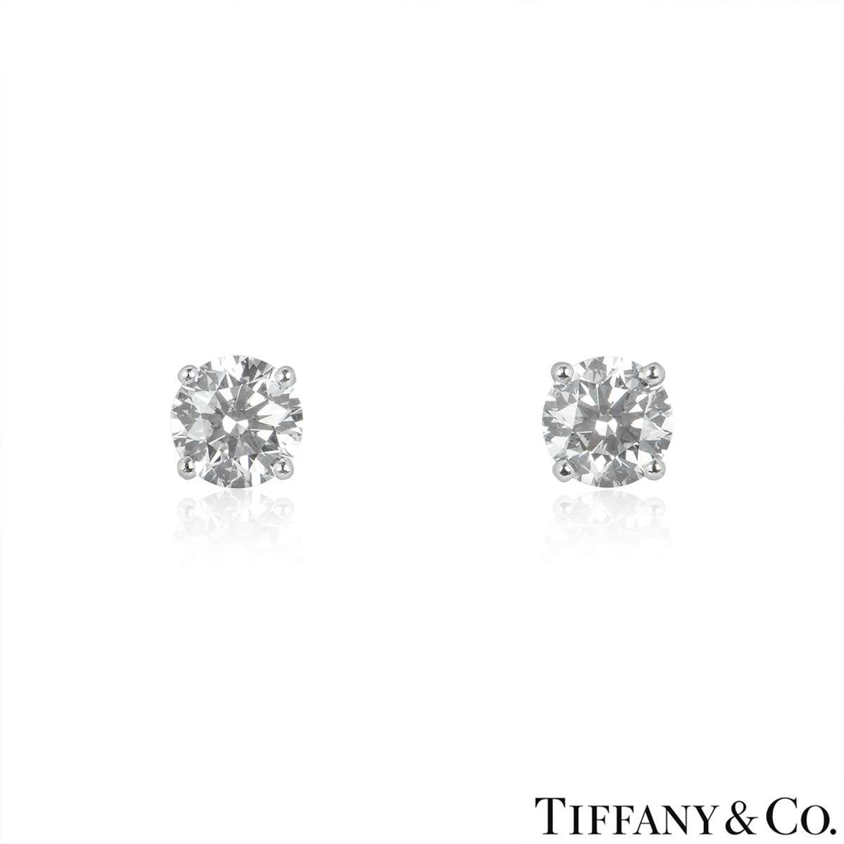 Tiffany & Co. Diamond Ear Studs 2.43ct TDW